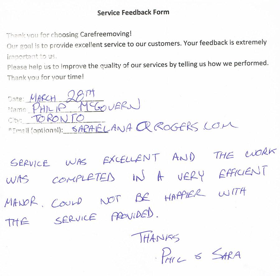 Service was excellent and the work was completed in a very efficient manner. Could not be happier with the service provided.