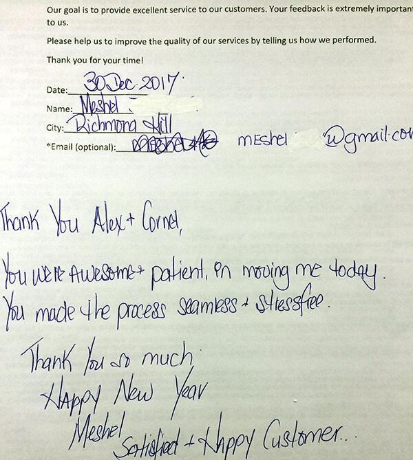 Thank you Alex + Cornel , you were awesame + patient on moving me today