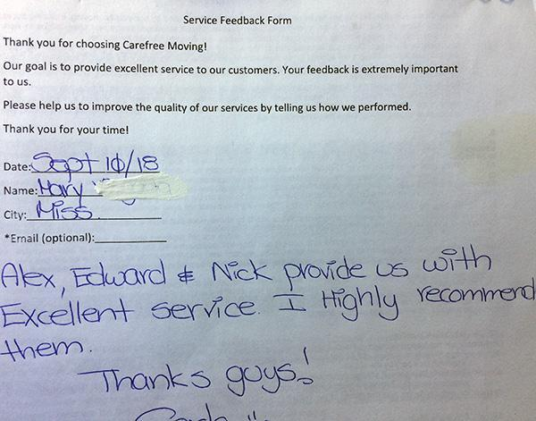 Alex, Edward & Nick provide us with excellent service, I highly recommend them