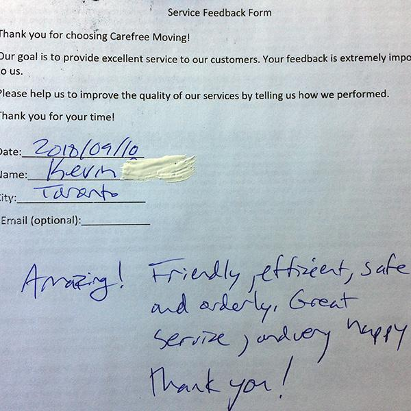Amazing! Friendly, efficient, safe and hard working guys. Great service, I am very happy