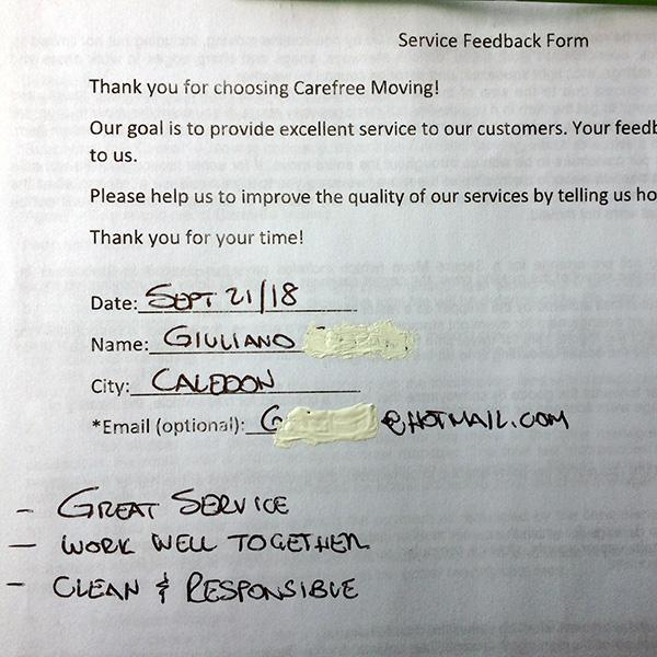 Great service. Work well together. Clean & Responsible