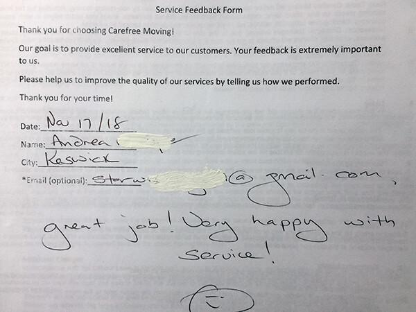 Great job! Very happy with service!