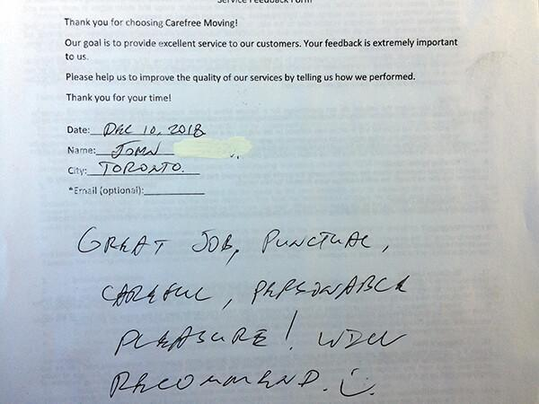 Great job, punctual, careful, professional! Pleasure to work with this company