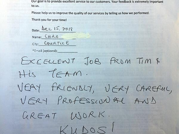 Excellent job from Tim & his team! Very friendly, very careful, very professional and great work