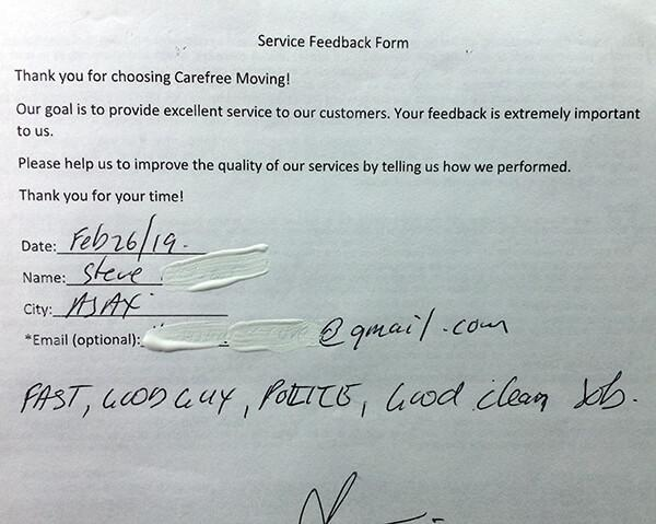 Fast, polite, good clean job.
