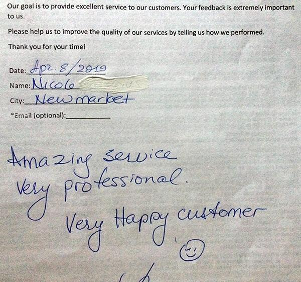 Amazing service, very professional. Very happy customer.