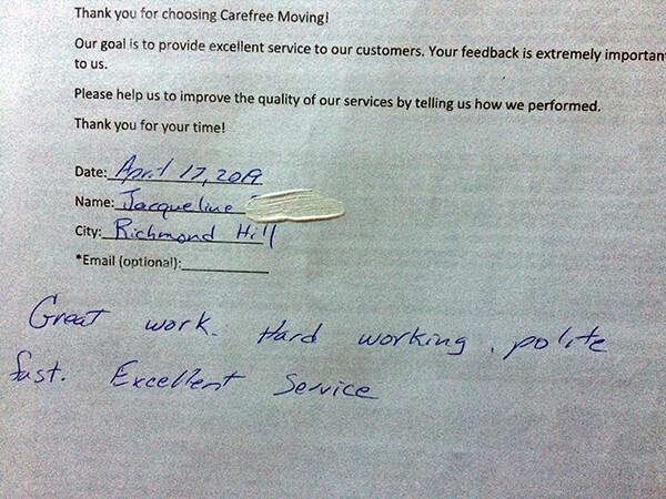 Great work. Hard working, polite, fast. Excellent service.