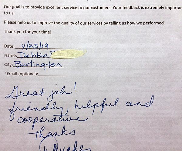 Great job! Friendly, helpful and cooperative, thanks.