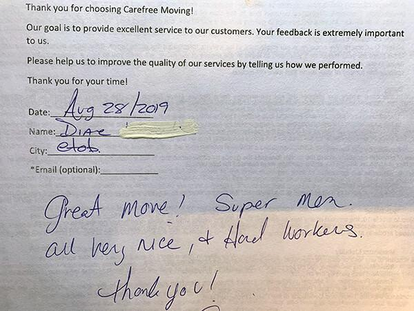 Great move! Super men. All very nice, hard workers