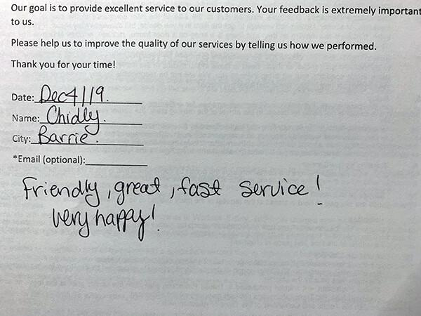 Friendly, great, fast service! Verry happy