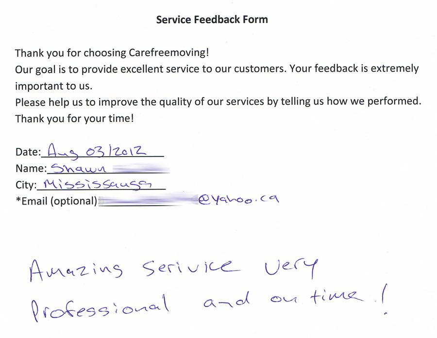 Amazing service, very professional and on-time.